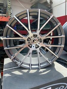 24x10 Forgiato Flow 001 Wheels And Tire Package Brushed And Gun Metal Forgis 24
