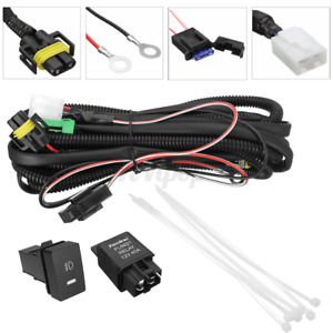 H11 Fog Light Wiring Cable Socket Wire Led Indicators Switch Relay For Ford Us