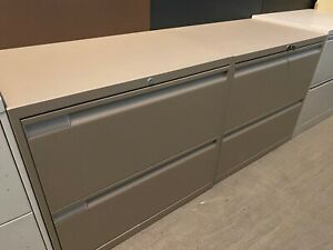 2 Drawer Lateral Size File Cabinet By Teknion Office Furniture W lock