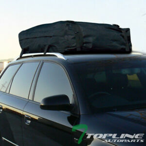 Black Rainproof Roof Top Cargo Rack Carrier Bag Travel Luggage Storage For Jeep