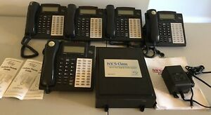 Esi Ivx e class Gen Ii Digital Phone System Voice Mail 6 Phones Untested