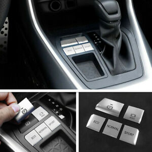 For 2019 2020 Toyota Rav4 Silver Gear Accessories Function Button Trim Frame 5p