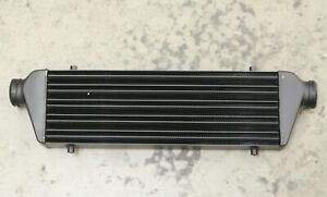 High Quality Black Turbo Tube fin Front Mount Intercooler Aluminum With Bracket