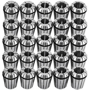 25pcs Er16 er32 Spring Collet Set 12pcs 16th 13pcs 32nd Collet Chuck Tool Holder