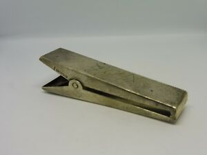 Antique Sterling Silver Clothespin Perfect Desk Accoutrement