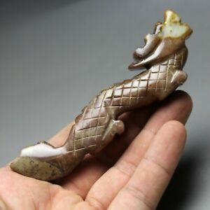 4 4 China Old Jade Chinese Hand Carved Ancient Dragon Statue Jade Statue 0645