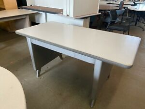 Vintage old Style Tank Table desk By Allsteel Office Furniture