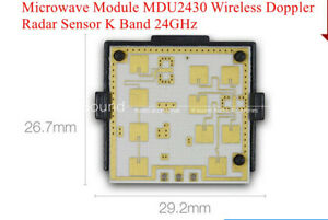 Microwave Module Mdu2430 Wireless Doppler Radar Sensor K Band 24ghz