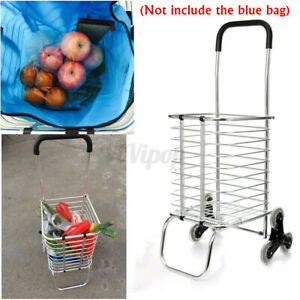 Folding Portable Stair Climbing Shopping Cart Trolley Ladder Climb With 6 Wheels
