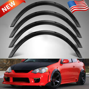 4x 3 1 80mm Universal Flexible Car Fender Flares Extra Wide Body Wheel Arches
