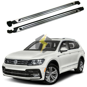 Us Stock Side Step Fit For Vw Tiguan Allspace 2017 2021 Running Board Nerf Bar