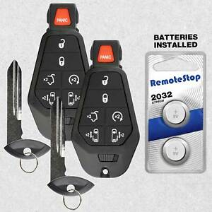 2 For 2010 2011 2012 2013 2014 2015 Chrysler Town And Country Remote Key Fob