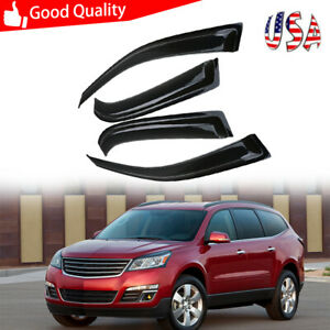4pcs Window Visors Vent Wind Rain Guards Shade For Chevrolet Traverse 2009 2017