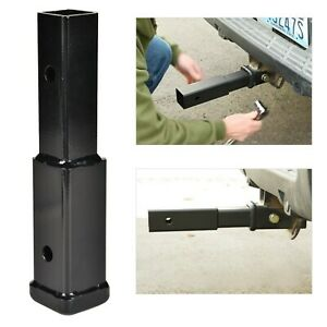 8 Hitch Extension Receiver 2 Extender 5 8 Pin Hole Trailer Tow 4000lbs Black