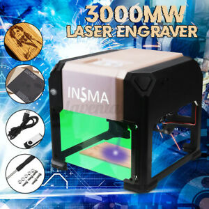 K3 3000mw Usb Laser Engraver Engraving Cutting Machine Diy Logo Printer Cnc Us