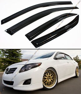 Jdm Wavy 3d Style Smoked Window Visor Vent Shade For 2009 2013 Toyota Corolla