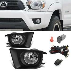 For 2012 2015 Toyota Tacoma Clear Bumper Driving Fog Lights switch Left right Us