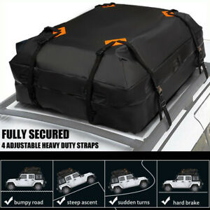 New Rooftop Universal Cargo Bag 15 Cubic Ft Roof Waterproof Car Top Carrier Bag