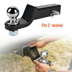 3 Drop Trailer Hitch Ball Mount Fits 2 Receiver Hitch Pin Tow Heavy Duty Truck