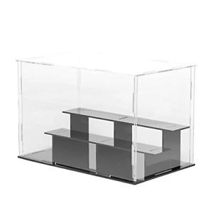 3 Steps Clear Acrylic Display Case Assembly Counter Top Box Cube Organizer Stand