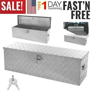 49 Heavy Duty Aluminum Tool Box Truck Pickup Trailer Underbody Storage W lock