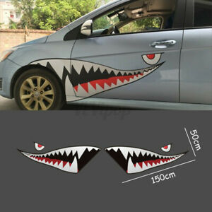 59 Car Boat Body Vinyl Decal Sticker Shark Mouth Tooth Graphics Waterproof