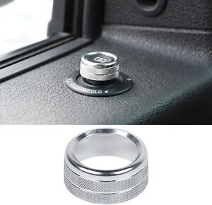 Silver Release Mirrors Adjustment Switch Knob Ring Trim For Ford F150 2009 2014