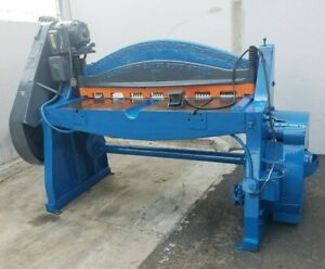 Pacific 5 Foot 3 16 Inch Mechanical Power Shear W Backgauge In Good Condition