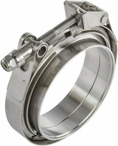 Jegs 30856 Quick Release V band Clamp And Flanges 2 5 In