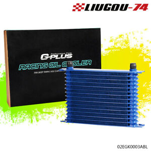 15 Row 10 An Blue Powder Coated Aluminum Engine Transmission Racing Oil Cooler