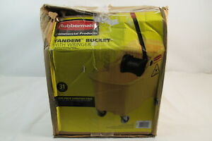 Rubbermaid 31qt Tandem Bucket With Ringer 1887304