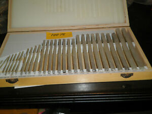 29 Piece Chucking Reamer Set Hss 1 16 To 1 2 By 64th New