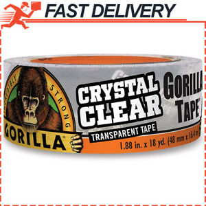Gorilla Crystal Clear Duct Tape 1 88 X 18 Yd Clear Pack Of 1