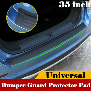 35 Car Tail Trunk Sill Plate Bumper Guard Protector Rubber Pad Cover Trim New