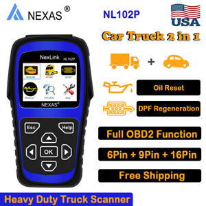 Nexas Nl102p Heavy Duty Truck Car Dpf Oil Reset Diagnostic Scanner Code Reader
