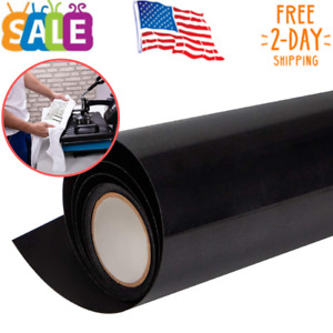 Heat Transfer Vinyl Htv For T shirts 12 Inches By 8 2 Feet Rolls black