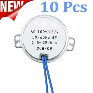 10 Pack Synchronous Motor Large Torque 50 60hz Ac 100 127v 2 5 3rpm Ccw cw 4w Us