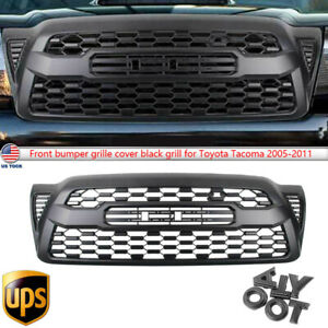 Black Front Bumper Grille Fit For Tacoma 2005 2011 Hood Grill W Letters