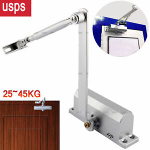 25 45kg Aluminum Commercial Door Closer Two Independent Valves Control Sweep us