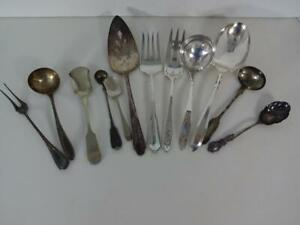 Antique 12 Serving Pc Hall Elton Rogers Oneida Flatware Silverplate Silverware