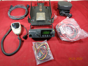Motorola Pm1500 Vhf Uhf 110 Watt Mobile Radio Accessory Package Actual Photo s