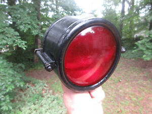 Antique Vintage Police Emergency Auto Car Blue Red Light 4 5 Lenses Mount