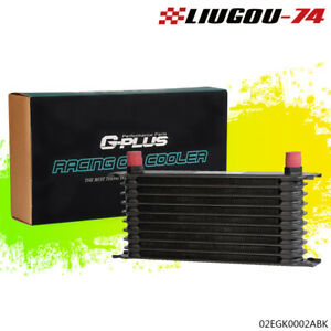 10 Row An 10 Universal Powder Coated Aluminum Engine Transmission Oil Cooler