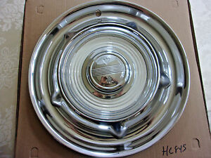 1958 Olds Hub Cap 14 Stainless Hc845