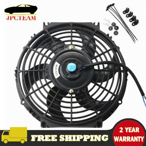 10 Universal Electric Radiator Slim Fan Push Pull Mounting Kit For Most Cars