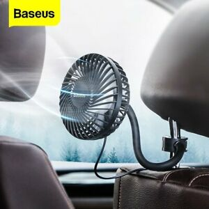 Baseus Car Fan Cooler Backseat Mount 360 Rotating Adjustable Air Conditioner