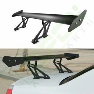 53 Aluminum Black Adjustable Gt Style Car Trunk Spoiler Wing Universal