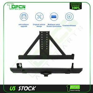For 1987 2006 Jeep Wrangler Tj Yj Rear Bumper With Tire Carrier