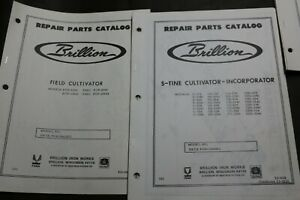 2 Brillion Repair Parts Catalog Manual S tine Field Cultivator incorporator
