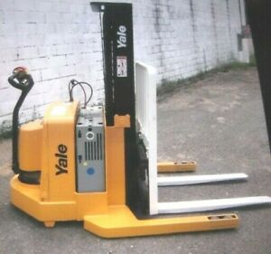 Yale Msw040 Electric Walkie Stacker Forklift Truck 24v 3800 Cap 153 Lift